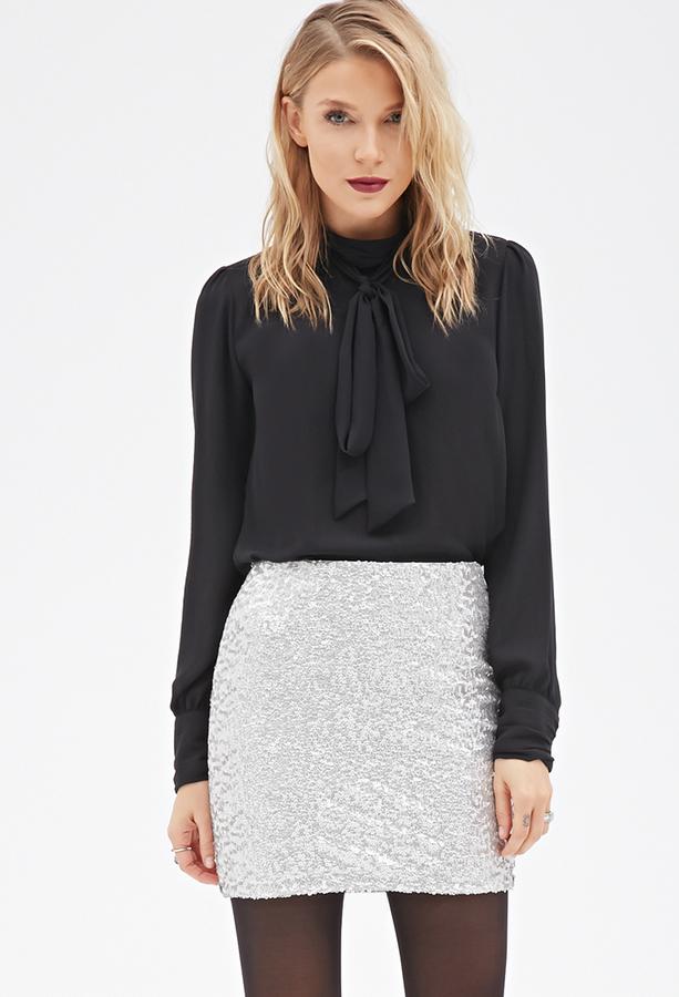 Forever 21 Contemporary Sequined Mini Skirt
