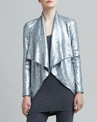 Sequined cascade collar jacket medium 111244