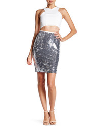 English factory sequin pencil skirt medium 3640735
