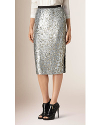 Burberry Sequin Pencil Skirt