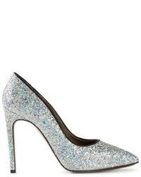 Silver Sequin Pumps