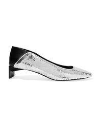 Loewe Ed Sequined Canvas Collapsible Heel Pumps