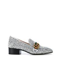 Gucci Gg Web Glitter Loafers