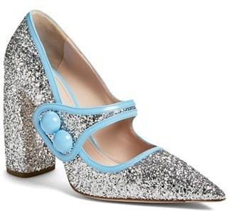 24e9f4a1698 $790, Miu Miu Glitter Mary Jane