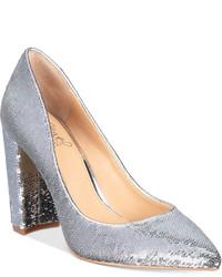 Badgley Mischka Jewel Luxury Block Heel Evening Pumps Shoes