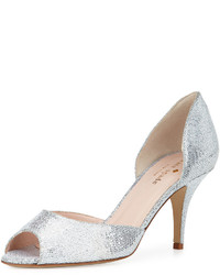 New york sage glitter dorsay pump silver medium 341331