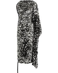 MM6 MAISON MARGIELA Convertible Sequined Tulle And Stretch Lam Midi Dress