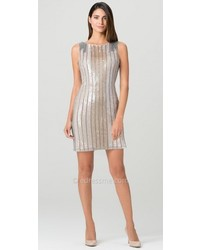 Aidan Mattox Vertical Sequin Cocktail Dress