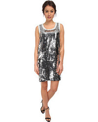 Love Moschino Sleeveless Sequin Tank Dress Dress
