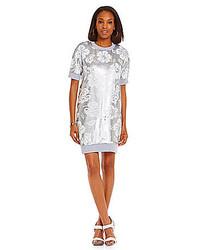b3c7b78f1291 ... MICHAEL Michael Kors Michl Michl Kors Coral Bay Sequined French Terry  Shift Dress ...