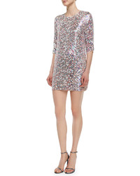 Parker Black Petra 34 Sleeve Sequined Shift Dress