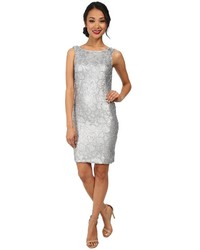Badgley Mischka Sequin Shift Cocktail Dress