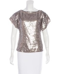 Short sleeve sequin blouse medium 6458167