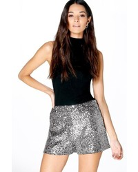Boohoo Becci Tailored Sequin Shorts