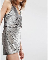 6e1202a843 Mango All Over Sequin Mini Skirt, $33 | Asos | Lookastic.com