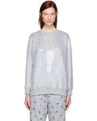 Ashish Ssense Silver Sequin Sweatshirt