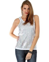 Fashion Club Usa Sequin Thermal Tank