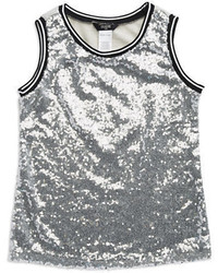 GUESS Girls 7 16 Sequin Tank