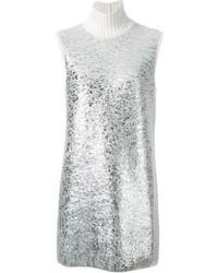 Iceberg Panelled Metallic Knit Dress