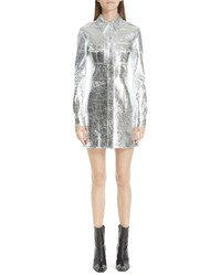 Calvin Klein 205W39nyc Metallic Leather Western Shirtdress