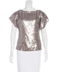 Silver short sleeve blouse original 11486201
