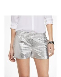 Express 2 12 Inch Silver Track Shorts Silver Small