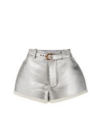 Marni Flared Lamb Leather Shorts