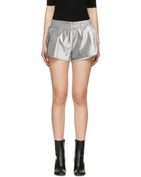 Off-White Silver Lurex Shorts