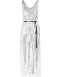 Marc Jacobs Sequined Silk Crepe Midi Dress