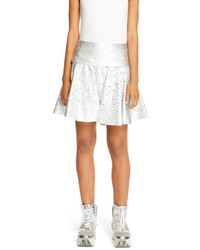 DKNY Metallic Lace Circle Skirt