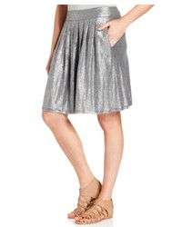 Eileen Fisher Pleated Metallic Skirt