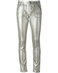 Silver Skinny Jeans