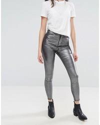 WÅVEN Waven Anika Metallic High Rise Skinny Jeans