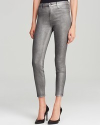 J Brand Jeans Bloomingdales Stocking Alana High Rise Ankle Crop In Midnight Metal