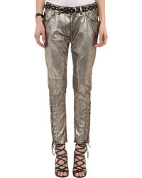 Isabel Marant Leather Crystal Pants