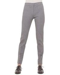 Akris Punto Mara Seamed Skinny Jersey Pants Silver