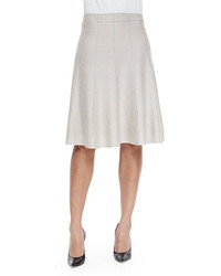 Nic+Zoe Paneled Twirl Skirt Silver Cloud