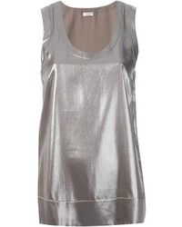 Silver sleeveless top original 3999997