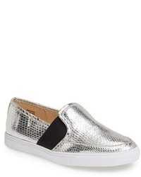 Silver slip on sneakers original 9766129