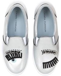 Chiara Ferragni 30mm Flirting Eyes Slip On Sneakers