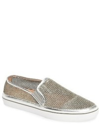 New york sallie metallic mesh slip on sneaker medium 1150623