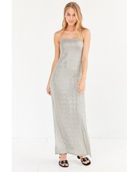 Silence & Noise Silence Noise Posh Metallic Maxi Slip Dress