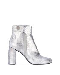 Stella McCartney Metallic Alter Snakes Skin Ankle Boots