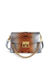 Givenchy Small Gv3 Metallic Genuine Python Crossbody Bag