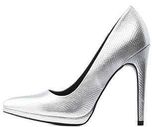a5f70f66ce1 $32, Charlotte Russe Metallic Python Pointed Toe Pumps