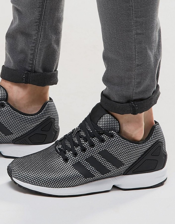 size 40 6460d 38861 $100, adidas Originals Zx Flux Sneakers In Silver S32276