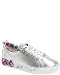 Women's Silver Sneakers by Ted Baker