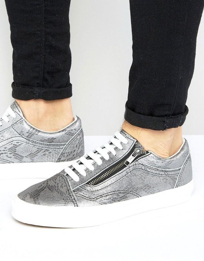 007ab2d617 $46, Vans Old Skool Metallic Sneakers In Silver Va3493lx9