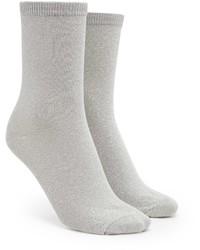 Forever 21 Glitter Knit Crew Socks