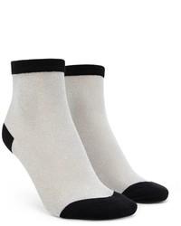 Forever 21 Sheer Glitter Crew Socks